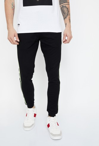 SMILEY Tape Detailed Slim Fit Joggers
