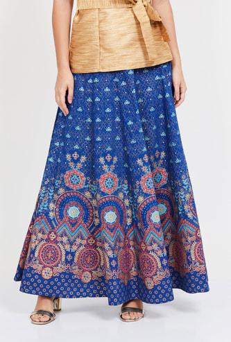 GLOBAL DESI Printed Maxi Skirt