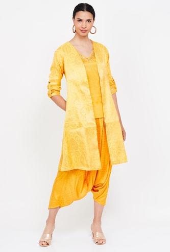 RANGRITI Jacket Kurta with Patiala Suit Set