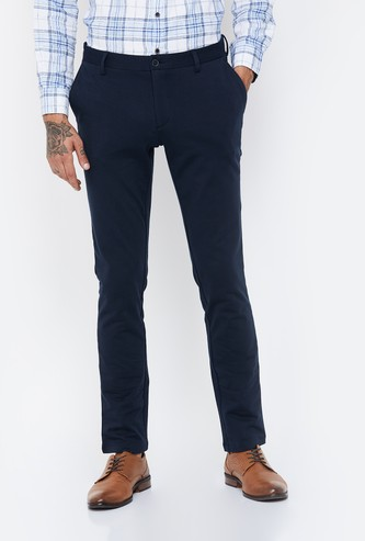 BLACKBERRYS CASUAL Solid Slim Fit Casual Trousers