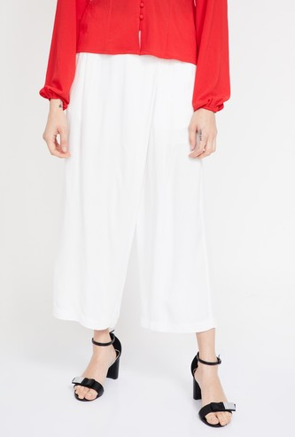 GINGER Solid Pleated Culottes