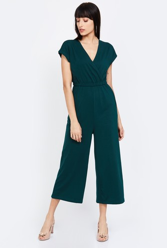BOSSINI Solid V-neck Jumpsuit