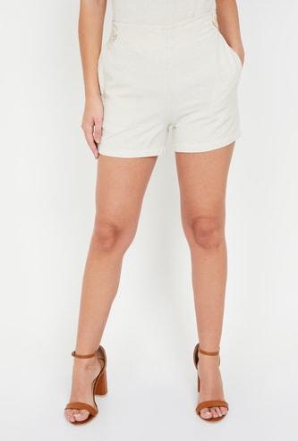 BOSSINI Solid Woven Shorts