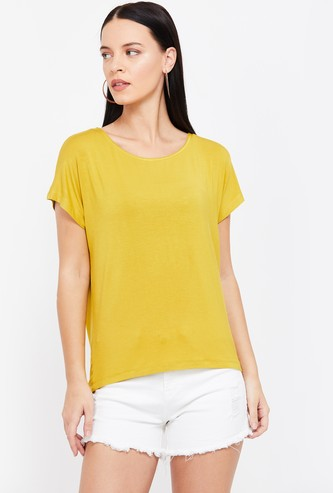 BOSSINI Solid Cap Sleeves T-shirt