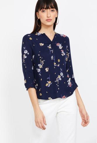BOSSINI Women Floral Print Woven Top