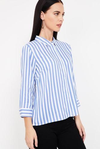 BOSSINI Striped Three-Quarter Sleeves Shirt