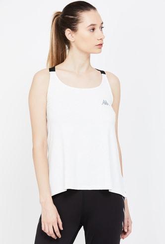KAPPA Speckled Regular Fit Lightweight Sleeveless T-shirt