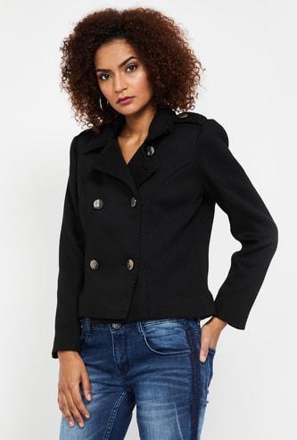 VAN HEUSEN Notched Lapel Button-Front Jacket
