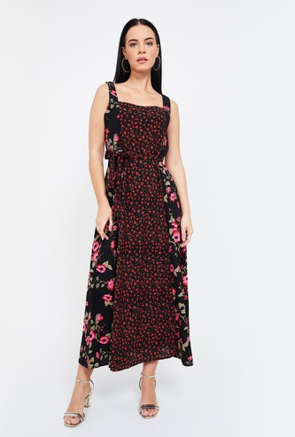 CODE Floral Print Sleeveless Midi Dress