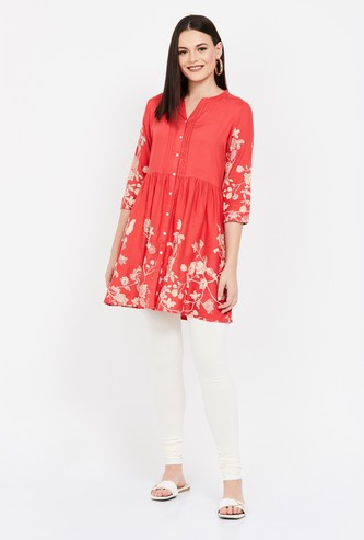 COLOUR ME Printed Buttoned Tunic