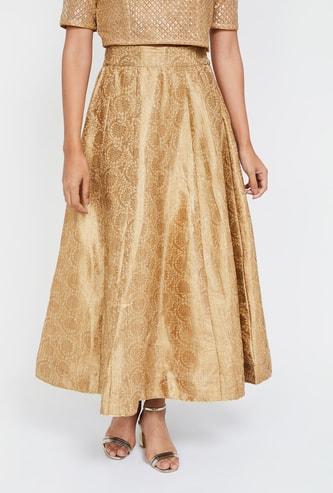 W Printed Maxi Skirt