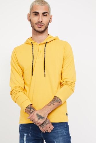 BOSSINI Textured Hooded Sweatshirt