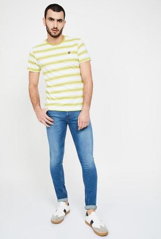 UCLA Striped Regular Fit Crew Neck T-shirt