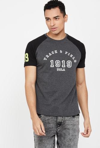 UCLA Typographic Print Raglan Sleeves Regular Fit T-shirt