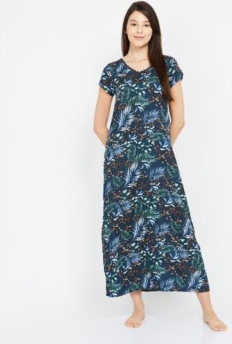 GINGER Botanical Print Night Dress