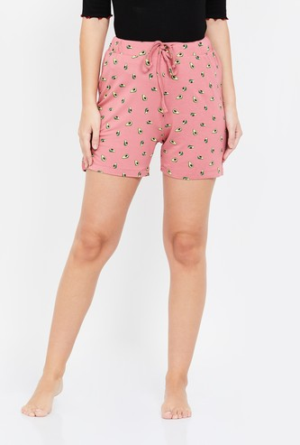 GINGER Printed Elasticated Shorts