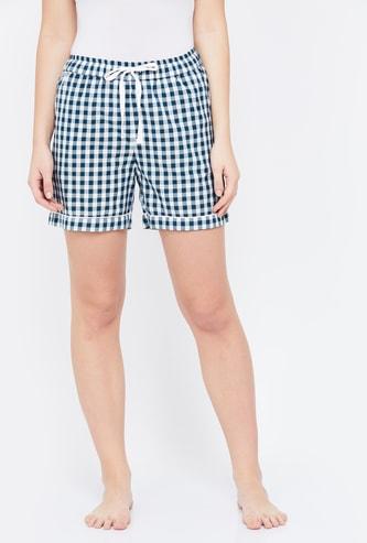 GINGER Gingham Check Lounge Shorts