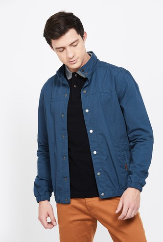 CODE Solid Button-Front Jacket