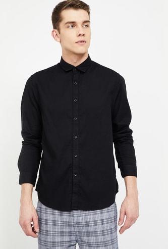 CODE Solid Full Sleeves Slim Fit Shirt
