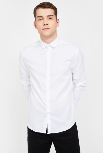CODE Textured Slim Fit Casual Shirt