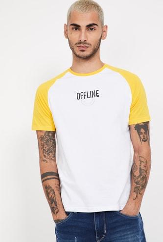 SMILEY Solid Regular Fit Crew Neck T-shirt