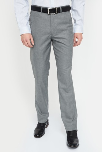 CODE Textured Regular Fit Trousers