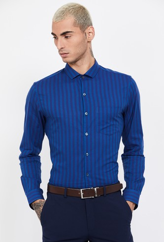 CODE Striped Slim Fit Formal Shirt