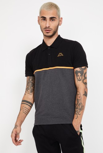 KAPPA Colourblocked Regular Fit Polo T-shirt
