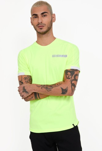 KAPPA Hydroway Solid Regular Fit Crew Neck T-shirt