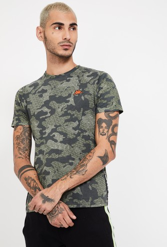 KAPPA Printed Regular Fit Crew Neck T-shirt