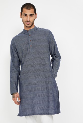 MELANGE Striped Full Sleeves Kurta