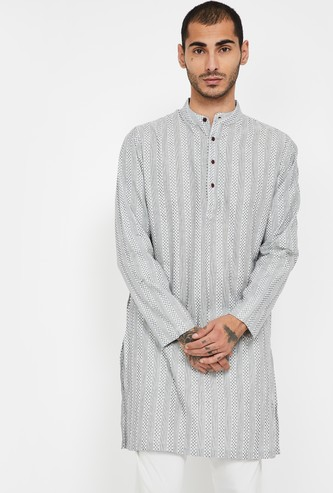 MELANGE Striped Regular Fit Kurta