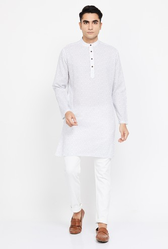 MELANGE Printed Regular Fit Straight Kurta