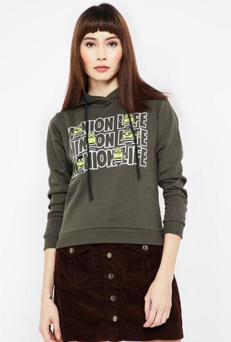STATUS QUO Printed Hooded Sweatshirt