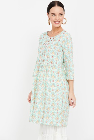 COLOUR ME Printed Tunic with Button Placket
