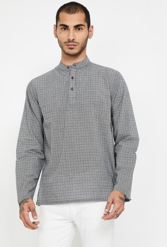 MELANGE Checked Regular Fit Shirt Kurta