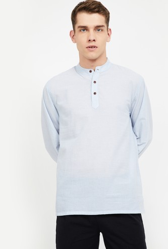 MELANGE Solid Regular Fit Shirt Kurta