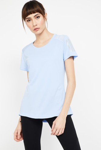 ADIDAS Solid Regular Fit Round Neck T-shirt