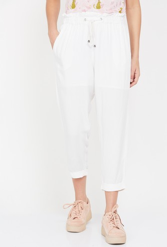 GINGER Solid Cropped Pants