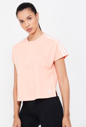 ADIDAS Solid Cap Sleeves T-shirt