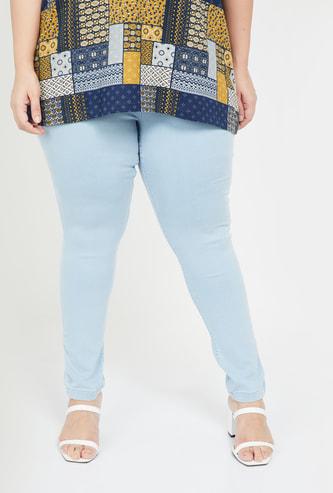 NEXUS Women Plus-Size Women Light Washed Skinny Fit Jeans