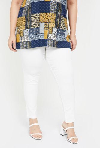 NEXUS Women Plus-Size Women Solid Skinny Fit Jeans