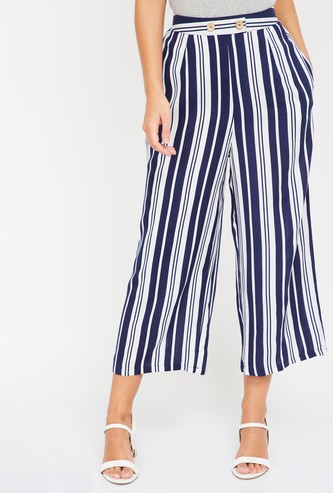 GINGER Striped Flared Trousers