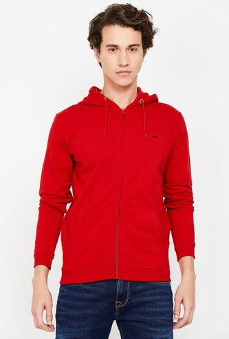VH SPORTS Men Solid Hooded Sweatshirt