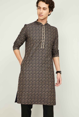 MANYAVAR Men Printed Full Sleeves Kurta