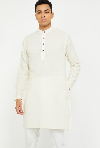 MELANGE Textured Straight Kurta