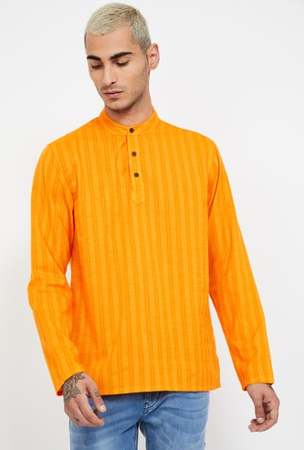 MELANGE Striped Regular Fit Kurta Shirt