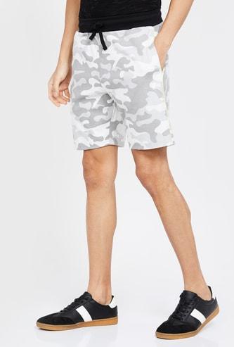FORCA Printed Slim Fit Shorts