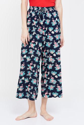 GINGER Printed Drawstring Waist Pyjamas