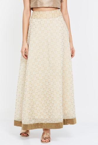 DE MOZA Printed Maxi Skirt